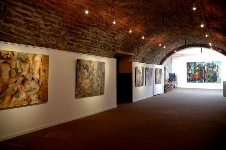 Vernissage exposition PM Corbel La galerie d'art Laguiole juin (1)
